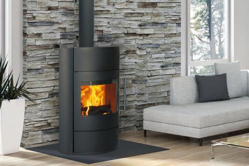 po le bois fonte flamme fifti. Black Bedroom Furniture Sets. Home Design Ideas