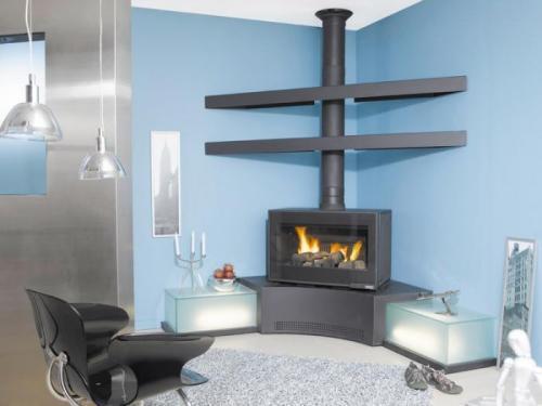 po le bois godin belcanto d 39 angle. Black Bedroom Furniture Sets. Home Design Ideas