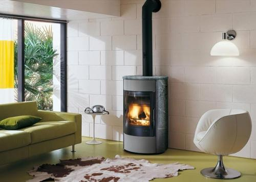 po le bois palazzetti betty ollare acier et pierre. Black Bedroom Furniture Sets. Home Design Ideas