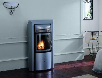 po le granul s palazzetti ecofire mini lux acier. Black Bedroom Furniture Sets. Home Design Ideas