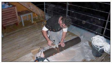 etapes de la pose d 39 un appareil de chauffage bois. Black Bedroom Furniture Sets. Home Design Ideas