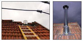 Etapes de la pose d 39 un appareil de chauffage bois for Reglementation conduit de cheminee exterieur